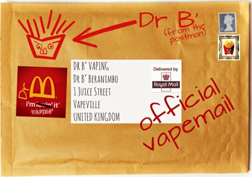 DR B' VAPEMAIL LOGO