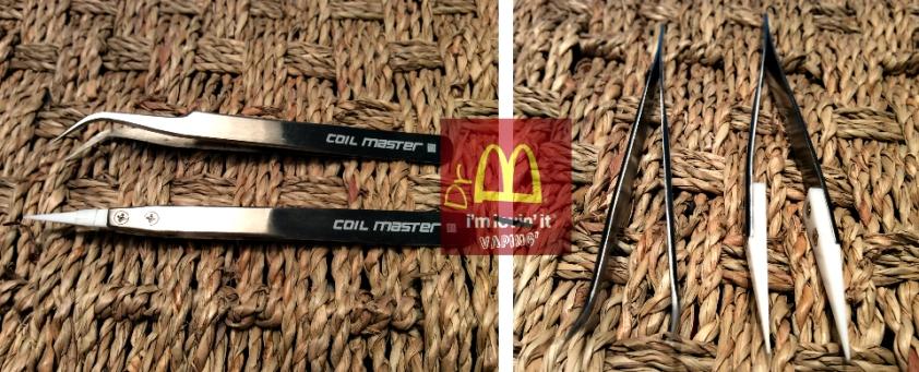 Coil Master tweezer montage